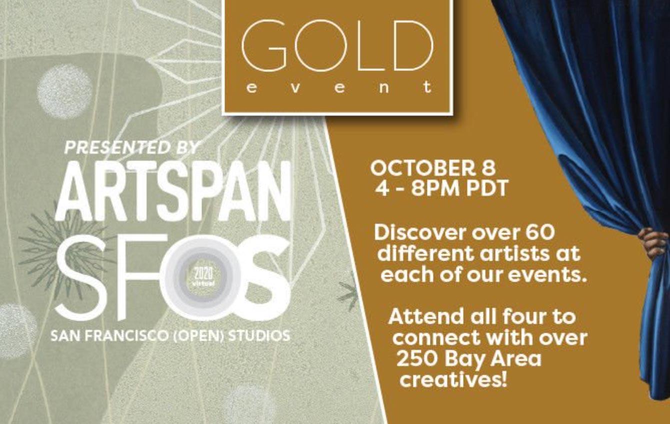 Artspan SFOS Gold Event flyer