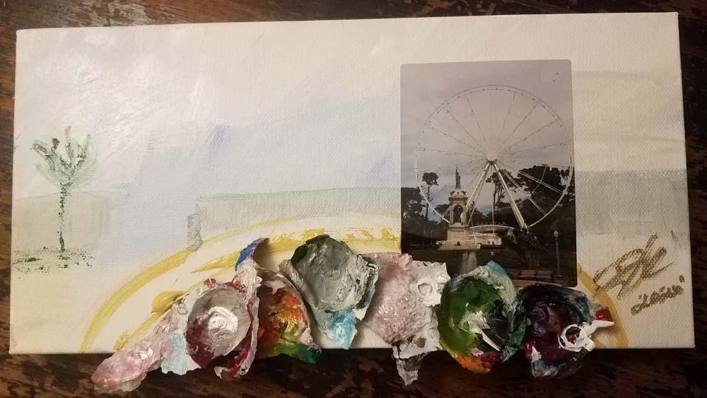 Irene Bee Kain - Painted Wheel