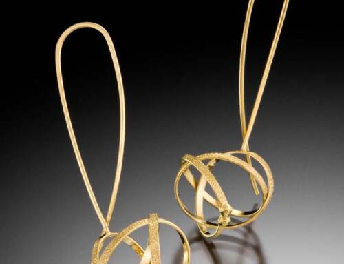 Gold Wishbone Earrings