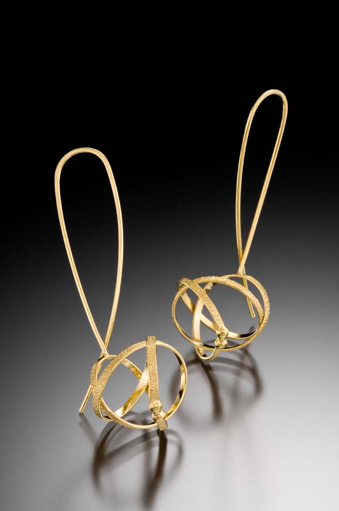 Kathleen Maley - Gold Wishbone Earrings