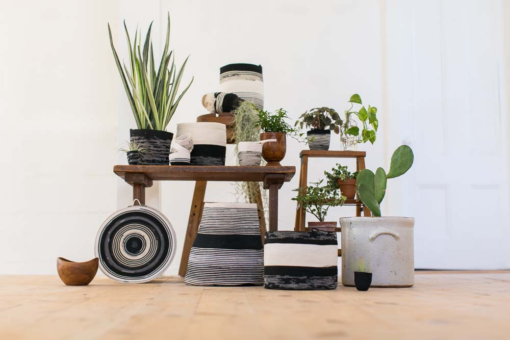 Moriah Okun - Black and White Basket Collection