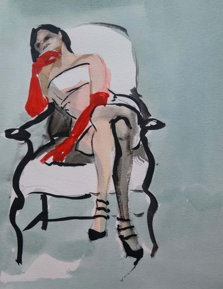 Jean Oppermann - Reverie in Red Gloves